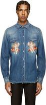 Dolce & Gabbana Indigo Cherub Shirt