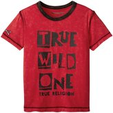 True Religion Inside Out Tee Shirt (Toddler/Kid) - Cardinal Red - 7