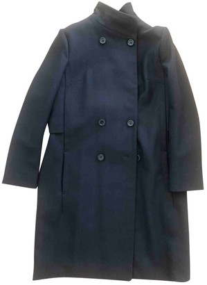French Connection Blue Wool Coat for Women