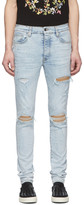 Amiri Blue Suede MX1 Jeans