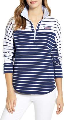 Vineyard Vines Mixed Stripe Half-Zip Pullover