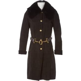 Gucci \N Black Shearling Coats