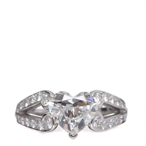 Platinum Diamond You're Mine Solitaire Cartier Ring
