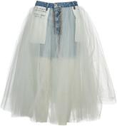 Taverniti So Ben Unravel Project Unravel Tulle Layered Denim Skirt