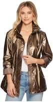 Kenneth Cole New York Cinched Waist Raincoat