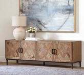 Pottery Barn Parquet Reclaimed Wood Media Console