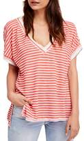 Free People Take Me Stripe Tee