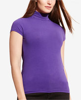 Lauren Ralph Lauren Plus Size Short-Sleeve Turtleneck