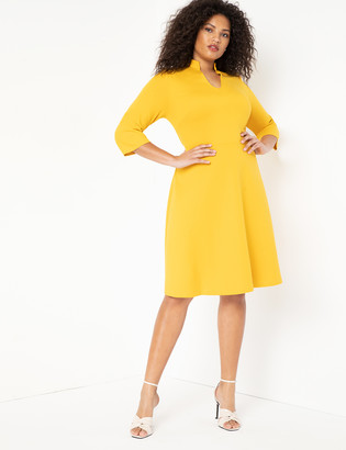 ELOQUII V-Neck A-Line Dress