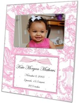 The Well Appointed House Pink Toile Decoupage Personalized Birth Announcement Photo Frame