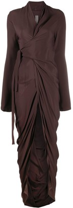 Rick Owens Draped Wrap Dress