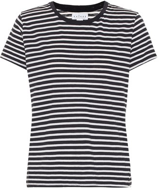 Velvet Hadley striped cotton-blend T-shirt