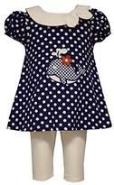 Bonnie Jean Little Girls' Whale Polka Dot Tunic and Leggings Set Blue