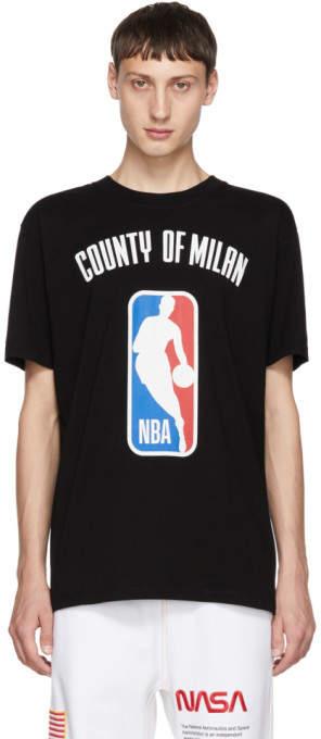 Marcelo Burlon County of Milan Black NBA T-Shirt