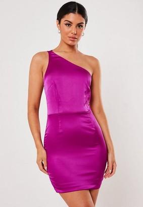 Missguided Double Strap Stretch Satin Mini Dress