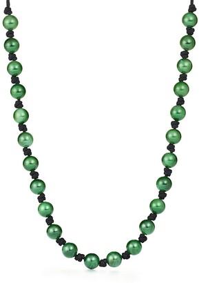 Tiffany & Co. Elsa Peretti Sphere necklace in green jade