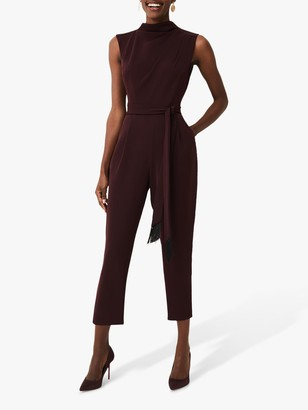 Phase Eight Zinnia Jumpsuit, Wine
