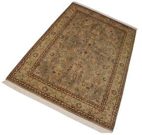 "Anthony Logistics For Men Astoria Grand One-of-a-Kind Overholt Pak-Persian Hand-Knotted 6'1"" x 9'3"" Wool Light Green/Brown Area Rug Astoria Grand"