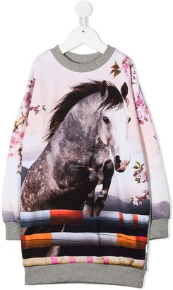 Molo Kids Horse Print Jumper Dress