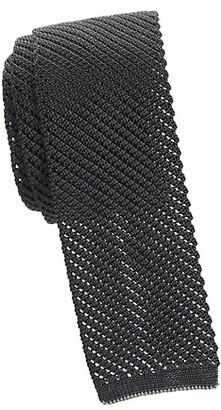 Salvatore Ferragamo Slim Crochet Silk Tie