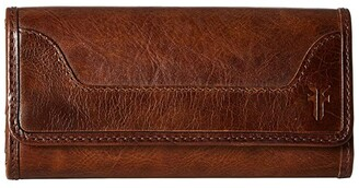 Frye Melissa Wallet (Dark Brown Antique Pull Up) Wallet Handbags
