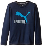 Puma Kids No.1 Long Sleeve Logo Tee (Little Kids)