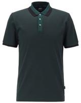 HUGO BOSS - Slim Fit Polo Shirt In Mercerized Cotton - Open Green