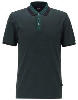 Slim-fit polo shirt in mercerized cotton