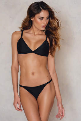 NA-KD Kristin Sundberg For KS Structured Bikini Brief Black