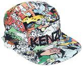 Kenzo Cactus Print Cotton Canvas Baseball Hat