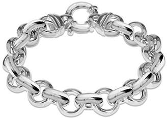 Tuscany Silver Women's Sterling Silver 15.7 mm Belcher Chain Polished Large Spring Ring Bracelet of Length 21 cm/8 Inch