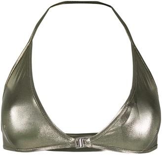 Rick Owens Metallic Bikini Top