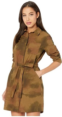 AG Jeans Justine Dress (Watercolor Camo Dried Grass) Women's Clothing