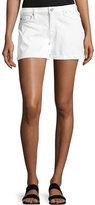 Hudson Asha Mid-Rise Cuffed Denim Shorts, White