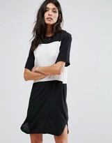 MANGO Contrast T-Shirt Dress