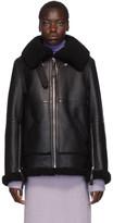 Acne Studios Black Shearling Long Jacket
