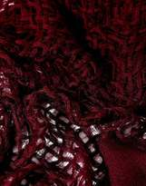 Asos Wool Mix Open Weave Scarf