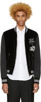 Dolce & Gabbana Black Embroidered Bomber Jacket