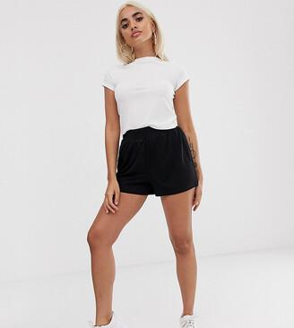 Asos DESIGN Petite Culotte Shorts-Black