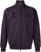 Brioni badge patch zipped cardigan - men - Cotton - S