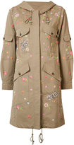 Needle & Thread floral embroidered coat - women - Cotton/Polyester - 4