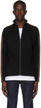 Fendi Black Forever Zip-Up Sweater