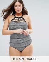 Costa Del Sol Plus Size High Neck Swimsuit