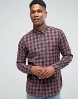 Jack Wills Shirt In Regular Fit In Flannel Check Damson