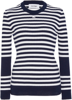 Courrges Striped Cotton and Cashmere-Blend Sweater