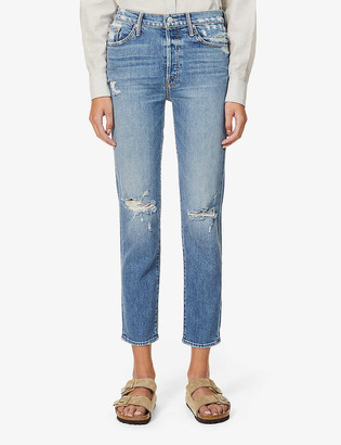 Mother The Trickster Ankle straight mid-rise jeans