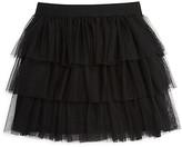 Aqua Girls' Tiered Mesh Skirt, Big Kid - 100% Exclusive