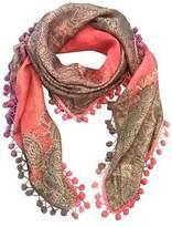 NEW Anais silk scarf with pompom trim Women's by Charli Bird