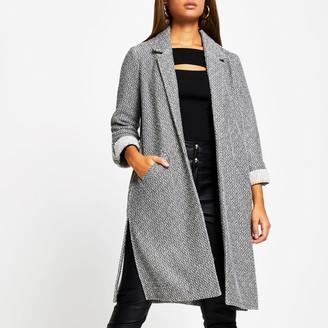 River Island Womens Grey long line jersey duster jacket