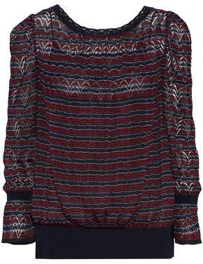 Oscar de la Renta Crochet-Knit Top